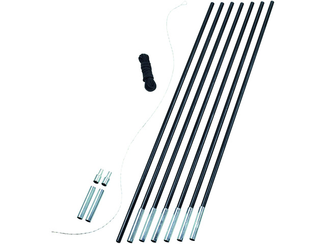 Easy Camp Pole DIY Tentaccessoires hardware Set 9,5 mm zwart